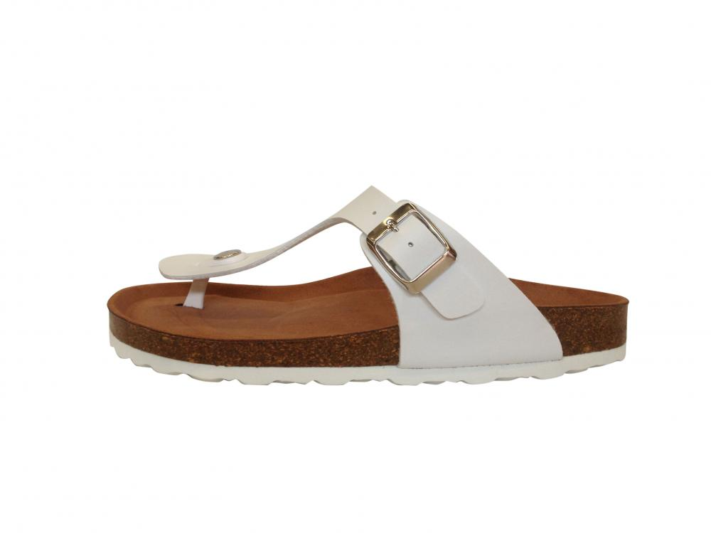 timeless design b72c2 45f11 Shoes 4 Comfort   Damen Zehentrenner Bio-Pantolette in Weiß