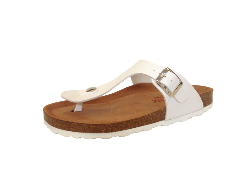 shoes 4 comfort damen zehentrenner pantolette in wei. Black Bedroom Furniture Sets. Home Design Ideas