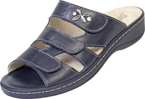 Hickersberger - VARIO - 3 Klett Pantolette blau Weite G