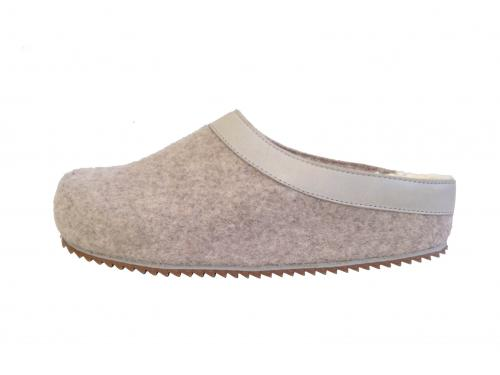 Damen Pantoffel in Beige