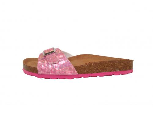 One Band Damen Bio-Pantolette in Pink Glitzer
